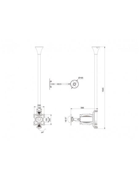 Multibrackets M Ceiling Mount Pro MBC1F, VESA 200 Multibrackets 7350073736416 - 15