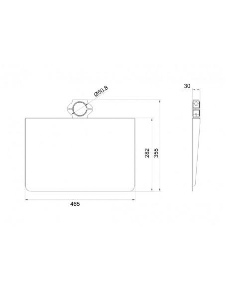 Multibrackets 6430 monitorikiinnikkeen lisävaruste Multibrackets 7350073736430 - 15