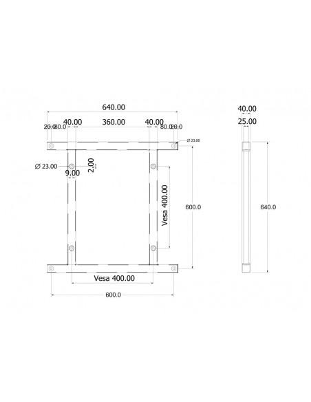 Multibrackets 6492 monitorikiinnikkeen lisävaruste Multibrackets 7350073736492 - 6