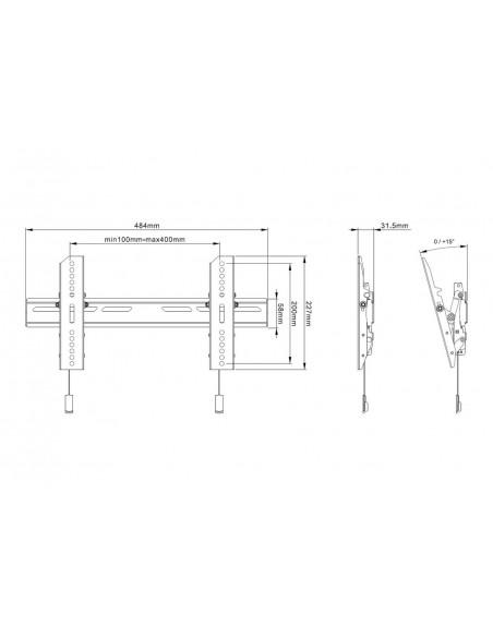 """Multibrackets 6560 TV-kiinnike 165.1 cm (65"""") Musta Multibrackets 7350073736560 - 9"""