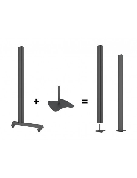 Multibrackets M Pro Series - Bolt Down Floor Plate Multibrackets 7350073736584 - 7