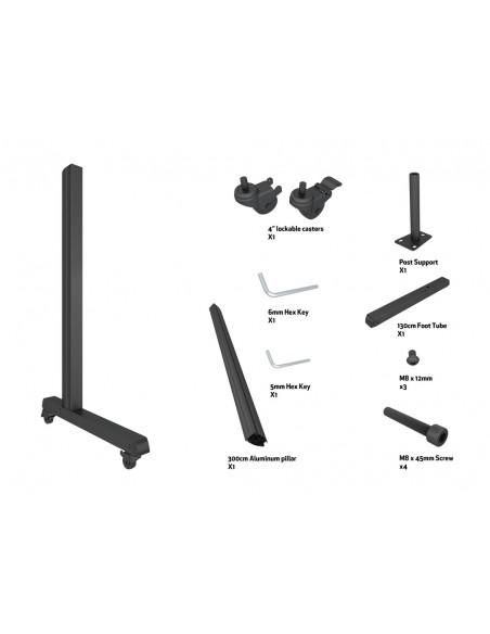 Multibrackets M Pro Series - Wheelbase 300cm inc castors Multibrackets 7350073736614 - 7