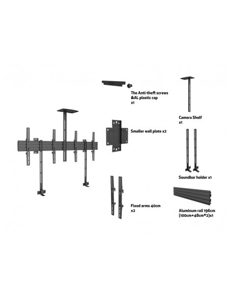 "Multibrackets M Pro Series - Side by with brackets 65"" Multibrackets 7350073736621 - 7"