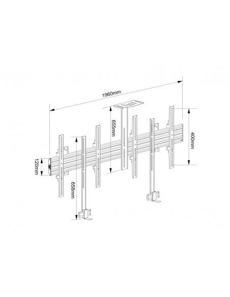 "Multibrackets M Pro Series - Side by with brackets 65"" Multibrackets 7350073736621 - 13"