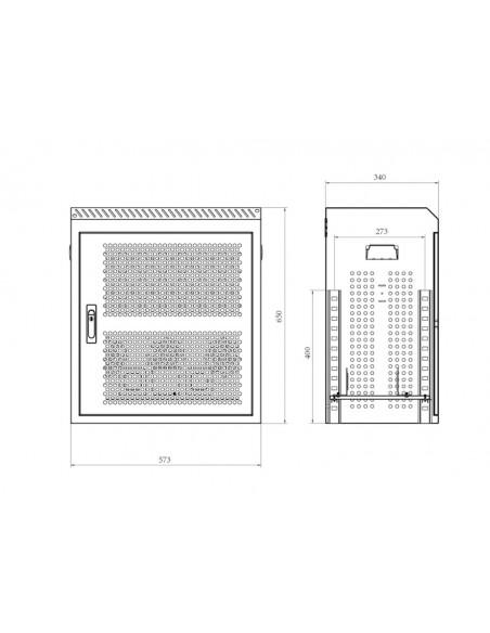 Multibrackets 7673 AV-telineiden lisävaruste AV-jalustan kotelo Multibrackets 7350073737673 - 8