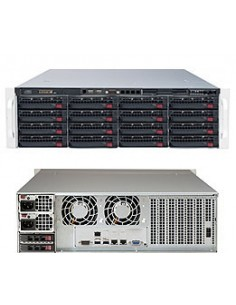 Supermicro 6038R-E1CR16H Intel® C612 LGA 2011 (Socket R) Rack (3U) Svart Supermicro SSG-6038R-E1CR16H - 1