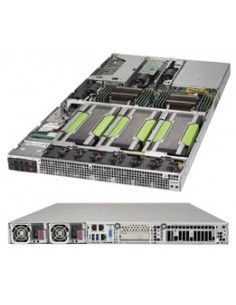 Supermicro 1028GQ-TR Intel® C612 LGA 2011 (Socket R) Rack (1U) Black Supermicro SYS-1028GQ-TR - 1